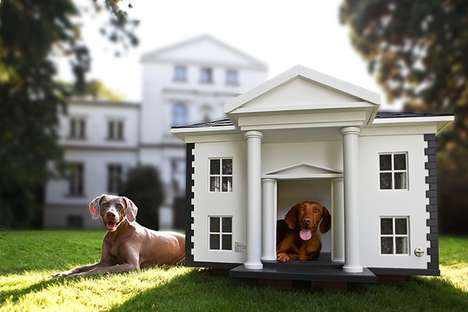 Deluxe Doggie Dwellings - The Best Friends Home Dog Mansions are Comfortable Canine Quarters