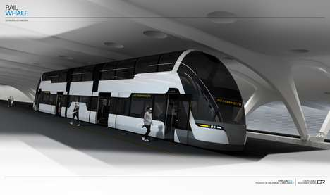 Split Level Streetcars - The Rail Whale Tram Supports a Great Passenger Capacity