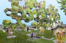 Vertical Public Parks - Billboard Park Uses a Honeycomb Design to Build Up Instead of Out