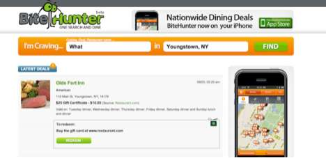 Fantastic Foodie E-Coupons - BiteHunter Website Offers Food Deals Based on Where You Are