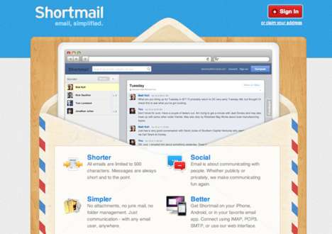 Word-Reducing Email Services - ShortMail Places a Character Limit on Your Digital Correspondences