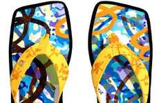Fancy Philanthropic Footwear - David Palmer Creates $18,000 Flip Flops to Save the Rainforest