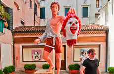 Fast Food Sculpture Spoofs - The David vs. McDonalds Statue is an Unappetizing Parody