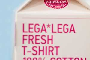 The Milk Container Packaging for LegaLega T-Shirts Offer a Special Surprise