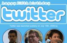 Tweeting Birthday Tributes - The Happy Birthday Twitter Infographic Honors the MicroBlogging Site