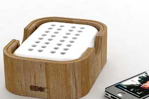 The Air Module is a Portable, Power-Free Wooden Amplifier