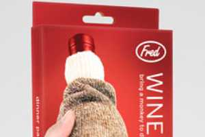 This Monkey Wine Sock is the Cutuest Way to Keep Your Merlot Safe