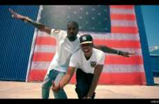 Epic Rap Duo Vids - The Jay-Z Kanye West Otis Video Captures the American Spirit on Fire