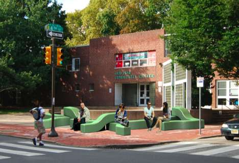 Worm-Like Urban Benches - Temporary Biodegradable Seating Accommodates All Living Things