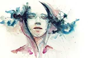 Silvia Pelissero Methodically Illustrates Faces with Unstable Streaks