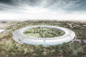 The Design for Apple HQ Has a Distinct Spaceship Structure