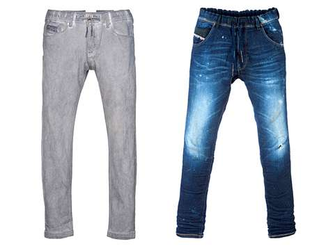 Hot Hybrid Denim - Diesel Jogg Jeans Combine Sweatpants and Jeans to Create the Perfect Pants