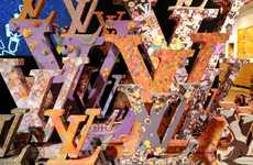Funky Couture Decors - The Vik Muniz Louis Vuitton Design is a Fun and Fresh Look for the Company