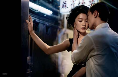Steamy Cinematic Eastern Editorials - The Dramatic Du Juan Numero China Spread