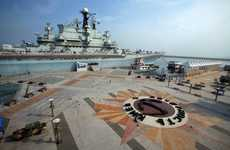 Battleship Boarding Houses - The Tianjin Binhai Aircraft Carrier is a Majestic, Floating Resort
