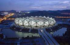 Crystalline Stadiums - The Universiade Sports Center is Inspired by Traditional Chinese Gardens