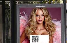 Bare Barcode Campaigns - These Victoria's Secret QR Code Ads Intrigue Passers-By