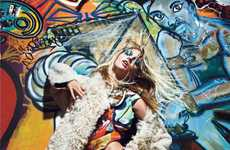 Gorgeous Graffiti Garments - This Mario Sorrenti September 2011 W Mag Shoot is a Multicolored Mosaic