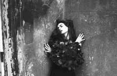 Gothic Romance Shoots - The Anne Hathaway Interview Magazine Spread Shows Her Dark Side