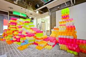The 'Post-It Structures' Project by Yo Shimada Uses 30,000 P