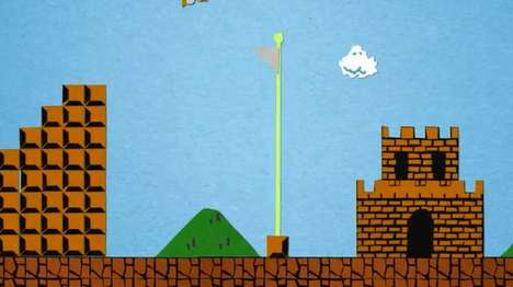 Super Mario Bros Paper Stop Motion