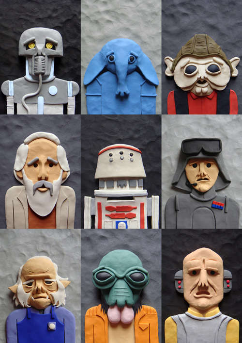 Clay Sci-Fi Sidekicks
