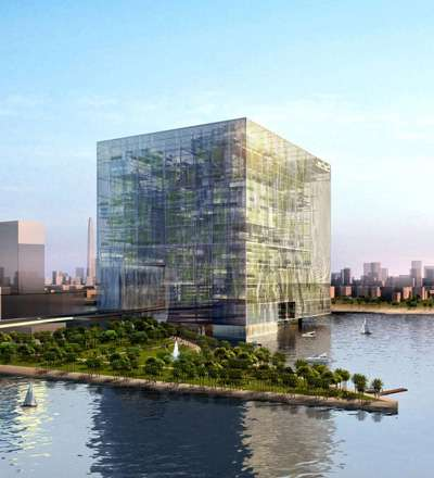 Self-Sustaining Cubitecture - Matrix Gateway Complex is an Astounding Innovative Green Structure