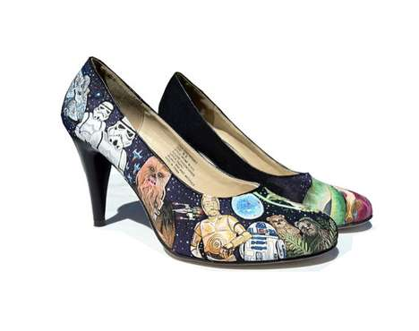 Star Wars Custom Painted Heels