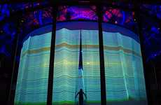 Multimedia Drapery Installations - Ron Arad's Curtain Call is Made up of  5,600 Silicon Rods