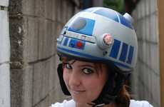 Sci-Fi Head Protectors - Jenn Hall's R2D2 Helmet Shows Her Inner Geek