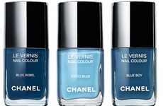 Denimspired Designer Nails - Feel Blue with the Les Jeans de Chanel Nail Polish Collection