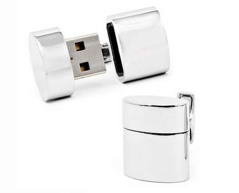 USB Flash Drive Cufflinks
