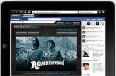 Social Media Film Streaming - Catch up on Flicks on the Go with Facebook Movie Rentals