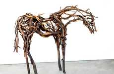 Deborah Butterfield Assembles Striking Stallion Sculptures