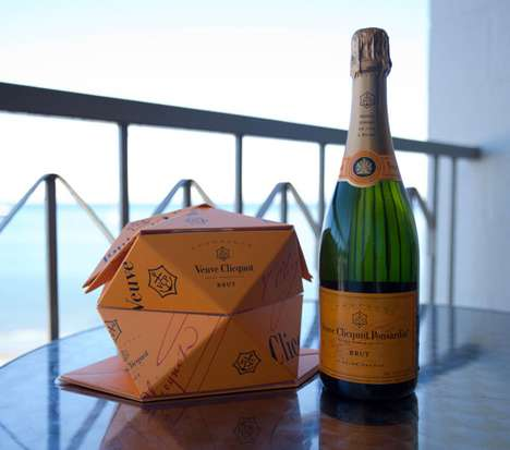 Pop-Up Champagne Chillers - Veuve Clicquot Clicqu'up is a Transportable Paper Origami Bucket