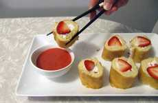 Strawberry Shortcake Sushi - 'Take a Megabite' Surely Makes a Scrumptious Sweet Sushi Snake