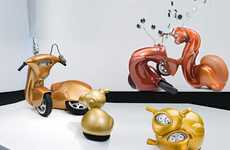 Animalistic Scooter Sculptures