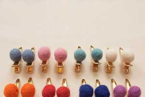 Adorn Your Tresses with the Cute Pom-Pom Hair Clips
