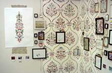 Whimsical Sticker Wallpaper - Payton Turner Adorns Walls With Thousands of Funky Adhesives