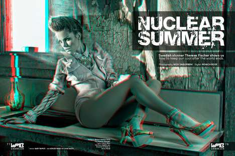 Scorching 3D Editorials - Nick Saglimbeni's Nuclear Summer Spread Will Jump Right Out at You