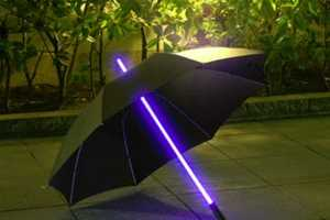 Have a Real Life Star Wars Battle with the Rainbow Flash LED Umbrella