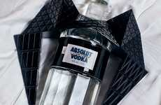 Goth Liquor Bottles - Gareth Pugh x Absolut Vodka Brings Dark Aesthetics to Drinking