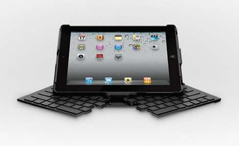 Qwerty Tablet Keypad Cases - Transform Devices into Laptops with the Logitech Fold-up Keyboard