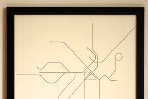 Fadeout Design Creates Pared Down Public Transit Art