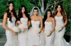 Whiteout Celeb Weddings - The Kim Kardashian Wedding Photos Show An All-White Bridal Party Wardrobe