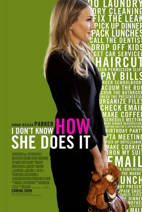 Chick Flick Parody Posters - Sarah Jessica Parker 'I Don't Know How She Does It' Spoofs