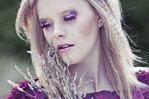 This Kamila Chwolka's 'Violet' Series Shows Feminine Nature Interaction