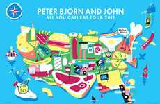 Cross-Country Food Giveaways - The Peter Bjorn and John 'All You Can Eat' Tour Feeds America