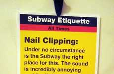 The Jay Shells Subway Etiquette Posters are Hilarious