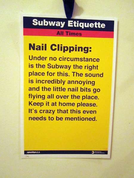 Jay Shells Subway Etiquette